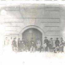Image of Southern blockade runners at Fort Warren (Boston Harbor) - Print, Photographic