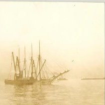 Image of Four masted schooner - Print, Photographic
