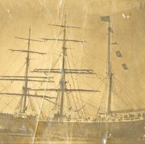 Image of Barque with Flags - Print, Photographic