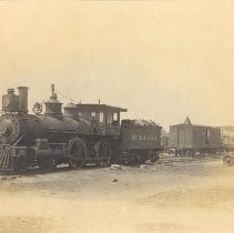 Image of Wood burning locomotive - Print, Photographic