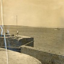 Image of Channel north of Ft. Clinch - Print, Photographic