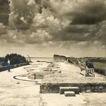 Image of Gun Mounts at Ft. Clinch - Print, Photographic