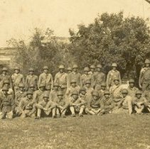Image of Company of Soldiers at Ft. Clinch - Print, Photographic