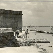 Image of Fishing outside of Fort Clinch - Print, Photographic