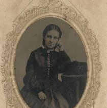 Image of Tintype portrait of Miss Parke - Tintype