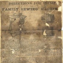 Image of Sewing machine directions