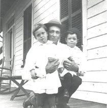 Image of Louis Sharp & boys - Print, Photographic