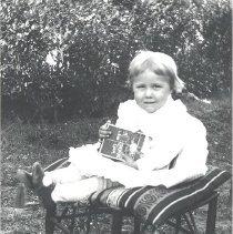 Image of Susie Davis (Sanderlin) in the yard - Print, Photographic