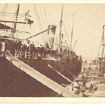 Image of Ship at dock - Print, Photographic