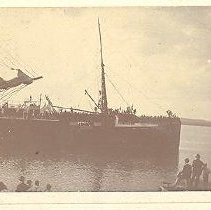 Image of Ship approaching dock - Print, Photographic
