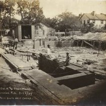 Image of Post Office construction 1908-1910 - Print, Photographic