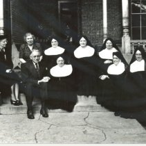 Image of Nuns with Mr. and Mrs. Klarer and Mrs. Hopkins - Print, Photographic