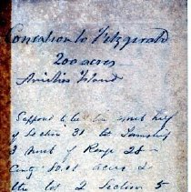 Image of Deed to Fitzgerald