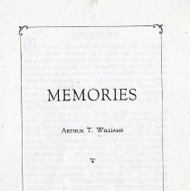 Image of Memories by Arthur T. Williams