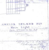 Image of Amelia Island Light House blueprint