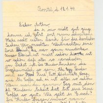 Image of Letter from Agnes to Mr. Arthur Steil (in German) - Letter