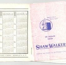 Image of Shaw Walker Booklet - Pamphlet