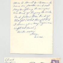 Image of 1993.056.018k Letter side 10 with envelope
