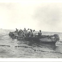 """Image of Purse boat dropping """"Tom"""" weight - Print, Photographic"""
