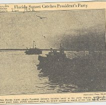 Image of Associated Press photo of President Hoover's vacation party - Print, Photographic