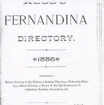 Image of Webb's Fernandina Directory 1886
