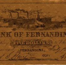 Image of Bank of Fernandina $5 note