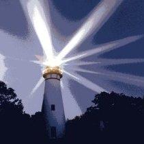 Image of Latham Lighthouse on Amelia Island - Postcard