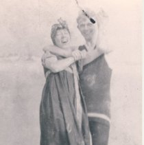 Image of Reba Haile and friend in bathing dresses - Print, Photographic