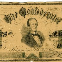 Image of Two samples of Confederate money - Money, Paper