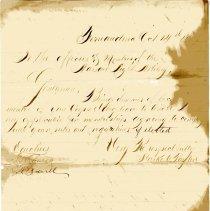 Image of Membership application from Starke C. Taylor to Nassau Light Artillery - Letter