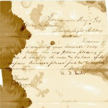 Image of Petition of W. G. Scott May 5th 1879 - Letter