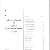 Image of Annual Report of City of Fernandina Beach, Florida: 1955