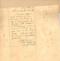 Image of Letter granting permission to build a saw mill