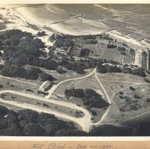 Image of Fort Clinch aerial view 1948 - Print, Photographic