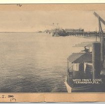 Image of Waterfront scene Fernandina FL 1942 - Postcard