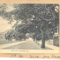 Image of 7th Street looking south from Beech - Postcard
