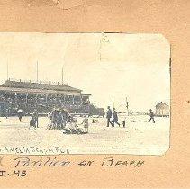 Image of Second Pavillon on beach - Print, Photographic