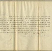 Image of Deed  of former Cashen Grant lands