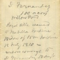 Image of Plat and description of the Claim of Domingo Fernandez