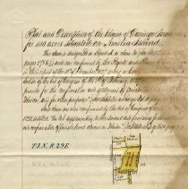 Image of Plat and description of the Claim of Domingo Fernandez  for 100 acres situated on Amelia Island - Deed