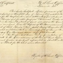 Image of Private land claims certificate No. 2:  Susannah Cashen - Deed