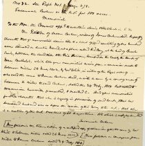 Image of Request of conveyance of 100 acres by Susannah Cashen. - Deed