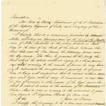 Image of Translation of Solomon Miller land grant of 06/26/1802 - Deed