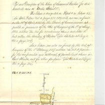 Image of Hand written description and plat of 100 acres Cashen Grant - Documents