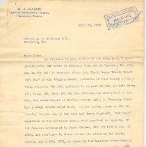 Image of Letter regarding Cashen Grant - Letter