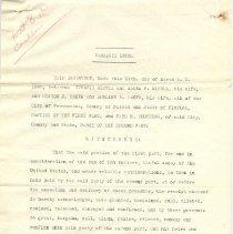 Image of Warranty deed copy - Deed