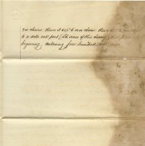 Image of Plat and description of the claim of heirs John McQueen