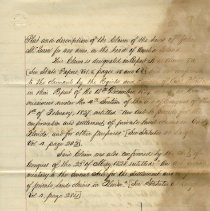 Image of Plat and description of the claim of heirs of John McQueen