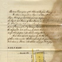 Image of Plat and description of the claim of Benjamin Chairs for 300 acres