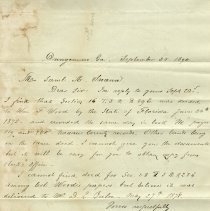 Image of Letter from L. Beugnet to Saml A. Swann